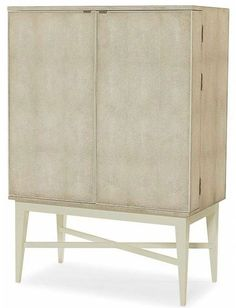 Hoffman Faux Shagreen Bar Cabinet with Cream Lacquered Base and Eglomise Interior Doors 3 Wine Racks on Left Door and Drawer Work Space on Right Door Small Storage Shelves Within Doors Large Furniture, Home Furniture, Furniture Design, Furniture Ideas, Small Storage Shelves, Storage Spaces, Storage Units, Classic Dining Room, Sustainable Furniture