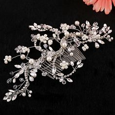 Vintage Charming Design Wedding Bride Handmake Headband Necklace Cown Pearls Hair Accessior Flower Silver 4286040 2016 – $22.99