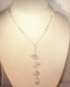 Swarovski Pearl and Crystal Sterling Silver by kippyskreations