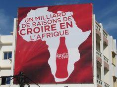 """Affichage permanent Dakar """"Un milliard de raisons de croire en l'Afrique"""", Coca Cola, sept 2012"""