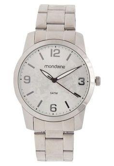 73b7d524931 O Relógio Mondaine 78482L0MVNA2 prata possui com design elegante e prático.  Perfeito para o dia