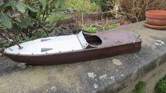 Canot de Vitesse en Bois, coque recouverte de métal, 75 cm