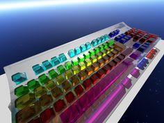 Rainbow Keyboard - wants it!