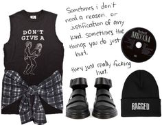 """really fucking hurts"" by m-janevski ❤ liked on Polyvore"