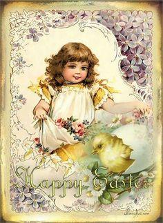 A WhimsyDust Affair. Easter Art, Hoppy Easter, Easter Crafts, Vintage Easter, Vintage Holiday, Vintage Greeting Cards, Vintage Postcards, Vintage Ephemera, Fete Pascal