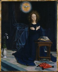 Gerard Davis (Flemish, Oudewater 1460-1523 Bruges) ~The Annunciation, 1506