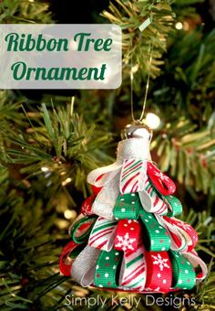 This handmade ribbon ornament is a simple DIY craft that will bring charm to your holiday tree.