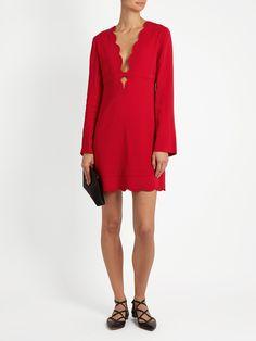 Eve scallop-edged crepe mini dress   A.L.C.   MATCHESFASHION.COM US