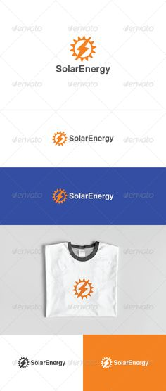 Solar Energy Logo — Photoshop PSD #beam #sun • Available here → https://graphicriver.net/item/solar-energy-logo/3608261?ref=pxcr