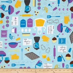Designed by Linda Birtel for Robert Kaufman, this fabric is perfect for quilting, apparel and home décor accents.  Colors include purple, yellow, aqua, blue, brown and white.