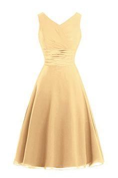 Queenmore Women's A line Chiffon Soft V Neck Prom Bridesm... http://www.amazon.com/dp/B01E5D8X7E/ref=cm_sw_r_pi_dp_mh4qxb0F4BBJ7