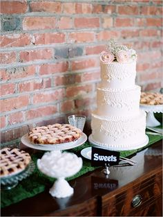 Rustic wedding dessert ideas
