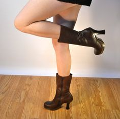 045cafa0ff844 18 Fascinating boots images | Leather boots, Self, Ankle booties