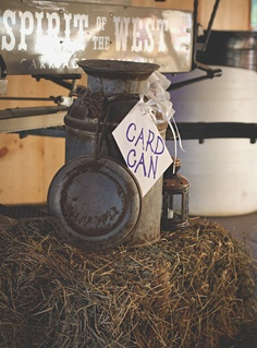 Rustic Milk Can for holding Wedding Day Cards