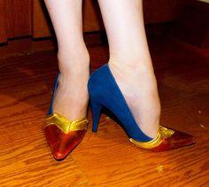 Wonder Woman heels tutorial - Shoes for Earthbound Superheroines - Mad Art Lab