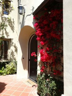 Love this front entrance for this Newport Coast home.