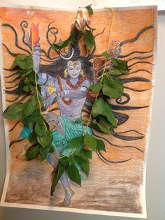 Lord Shiva with vilvam Shiva Art, Shiva Shakti, Om Namah Shivaya, Indian Gods, Lord Shiva, Hinduism, Spirituality, Glass, Artist