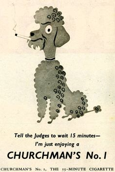 """""""Smokin' poodles"""" sounds like it should be a euphemism for something, doesn't it?  Found via http://retrogasm.tumblr.com"""