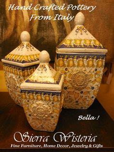 Boungiorno! Fine Handcrafted Italian Pottery. www.sierrawisteria.com