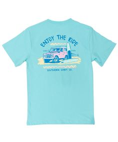 The perfect summer adventure awaits! The Enjoy the Ride tee from Southern Shirt is ready to go!