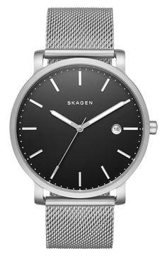 Skagen 'Hagen' Mesh Strap Watch, 40mm available at #Nordstrom