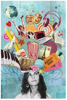 Online Creative Portfolios and Creative Jobs – The Loop – brain – collage Collage Portrait, Collage Artwork, Collages, Poster Collage, Pop Art Collage, Collage Background, Painting Collage, Mixed Media Collage, Portraits