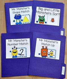 Monsters! Monsters! Monsters! Monster Matching Sorting File Folder Games Bundle (Includes 8 unique file folder games!) http://www.filefolderheaven.com/file-folder-game-packs/monster-themed-matching-and-sorting-file-folder-games