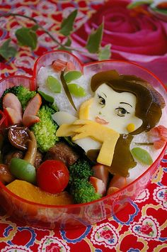 Beauty and the beast bento by luckysundae, via Flickr