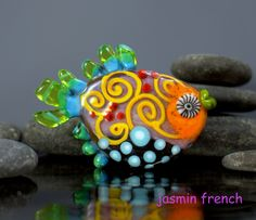 °° FISHY °° lampwork bead by jasmin french