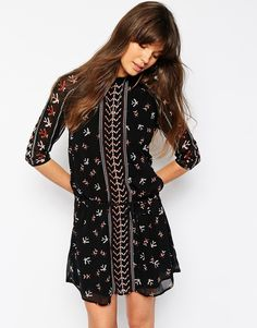 Enlarge Maison Scotch Signature Dress in Print with Tie Waist