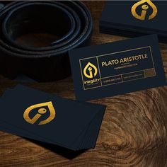 Gold Foil on Natural Black Paper for your #BusinessCard from @inkgility