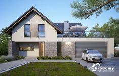Home Building Design, Building A House, Roof Design, House Design, Bungalow Renovation, Home Exterior Makeover, Beautiful House Plans, Contemporary House Plans, Staircase Design
