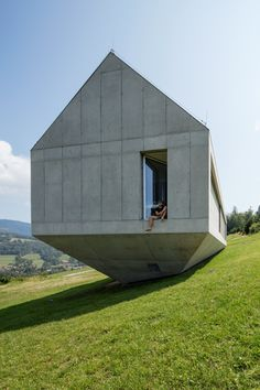 Robert Konieczny uses drawbridge to create ark-like house on a steep Polish hillside