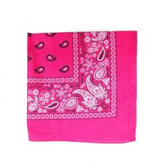 Paisley 100% Cotton Hot Pink Vegan Bandanas