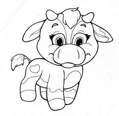 Image detail for -coloring page with cute cow cow line art coloring page line art of cow ...