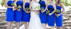 #royal #blue #wedding #bridesmaids #dresses