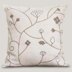Almofada Linho Firenze Floral No. 1 Marfim #ItsyDesign #decoração #interiores