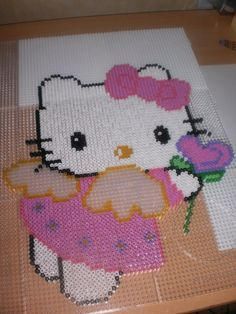 Hello Kitty hama perler by creations-differente - skyrock