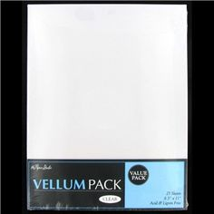 """Add a touch of class to your projects with 8 1/2"""" x 11"""" Clear Vellum. Use it as an overlay on cards, scrapbook pages and much more.  25 pk   There are 25 sheets per package. Acid & lignin free."""
