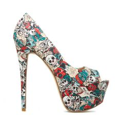 Marlayna - ShoeDazzle. Some mexican costumes would match perfectly with these pumps. #ShoeDazzle