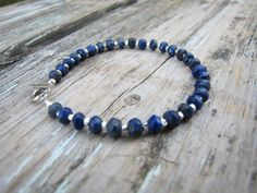 Lapis Lazuli and Hill Tribe silver bracelet by DezineStudio, $52.00