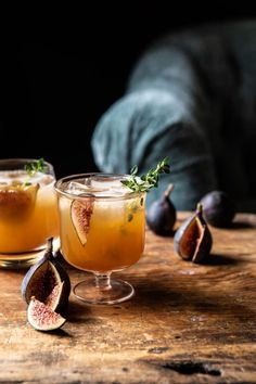 This fig dark and stormy is sweet, citrusy, and warming. The perfect cocktail to cozy up to and welcome the start of autumn and the cooler days ahead. Fall Cocktails, Fall Drinks, Christmas Cocktails, Classic Cocktails, Cocktail Drinks, Cocktail Recipes, Autumn Drink Recipes, Fall Wedding Drinks, Christmas Martini