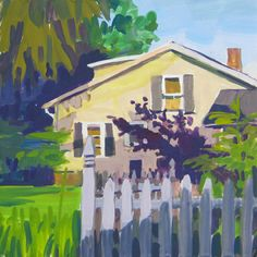 Robin's Neighbor's House. Artist, Jill Wagner.  House is in Chelsea, MI
