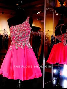 A-line Beading  Chiffon Cocktail Dresses / Homecoming Dresses