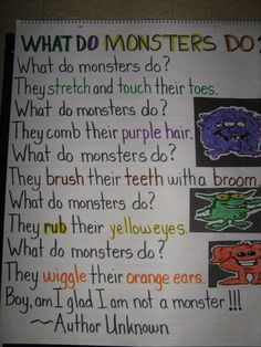 What Do Monsters Do?  active poem   #colors #monsters