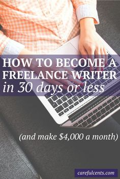 If you're thinking of becoming a freelance writer, read how one mom started her writing career and now makes enough money to support her family of four. Plus, find out the exact steps you can take to go from $0-$4,000 a month! #freelancewriter #career