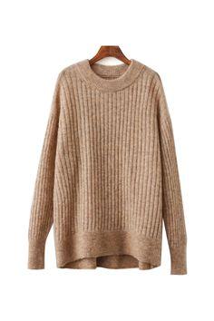 'Mia' Oversized Knitted Crewneck Sweater