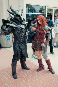 Skyrim. This is so much win, i could cry. what i wouldnt give for a suit of daedric armor...