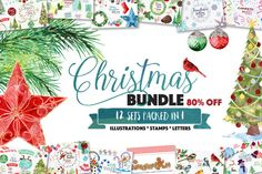 All in One - Xmas Tree Bundle by StudioDesset on @creativemarket
