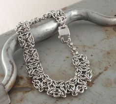 Stainless Steel Chainmaille Bracelet Kit  by UnkamenSupplies, $60.00 - I love this Celtic Labyrinth pattern!